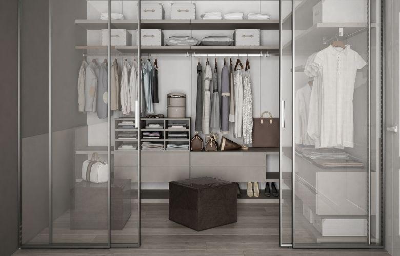 Closet com Porta de Vidro | westwing.com.br