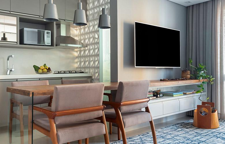 Sala de TV com Sala de Jantar | westwing.com.br