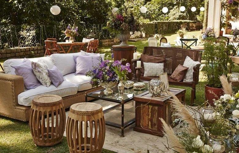 Garden Seat de Madeira   westwing.com.br