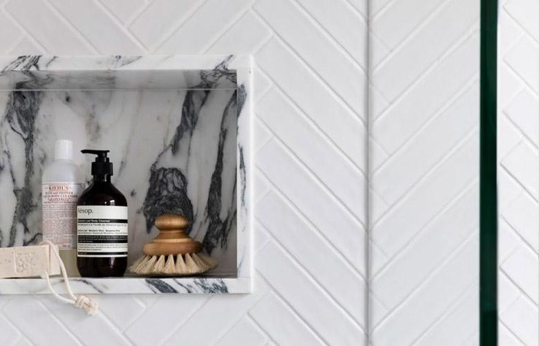 Porta-Shampoo de Mármore | westwing.com.br