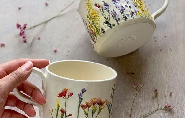 Caneca Floral   westwing.com.br