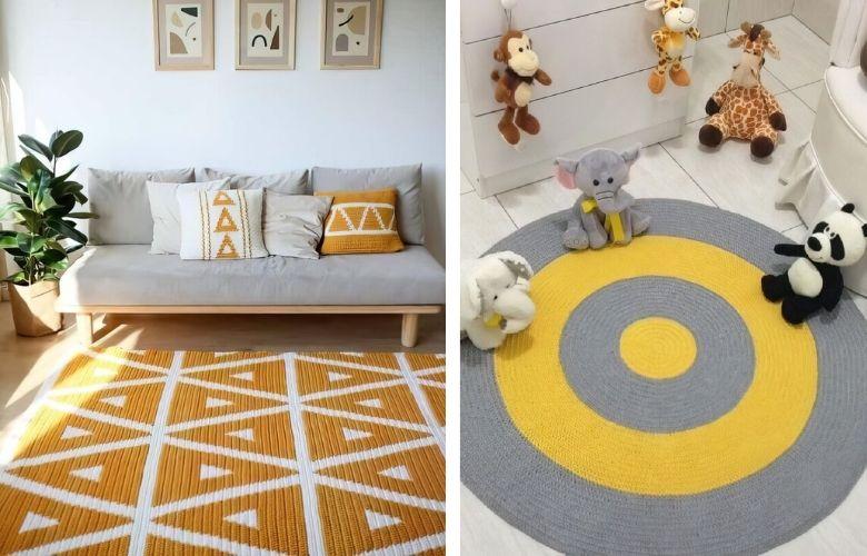 Tapete de Crochê Amarelo | westwing.com.br