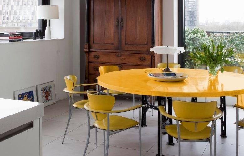 Mesa de Jantar Amarela   westwing.com.br