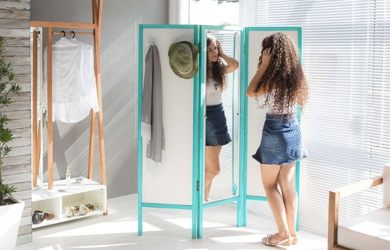 Biombo com Espelho   westwing.com.br