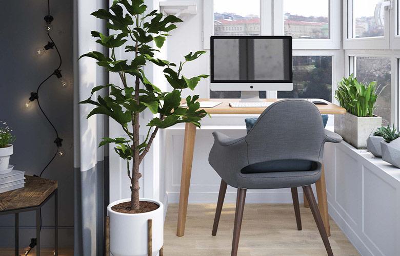 Home Office na Varanda | westwing.com.br