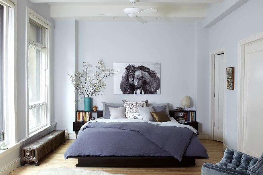 Cores para quarto de casal cinza e branco
