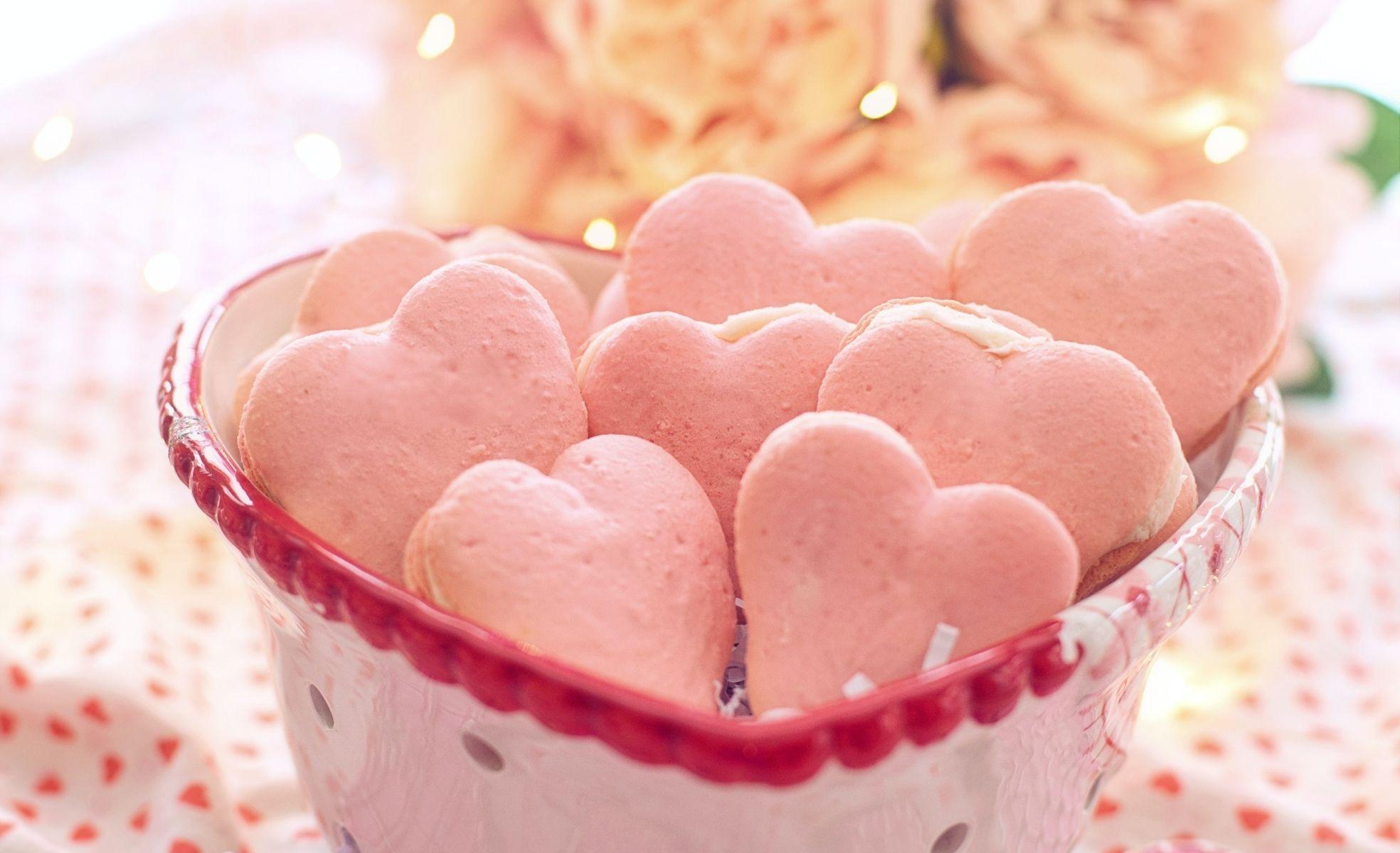 cookies de coração para o dia dos namorados