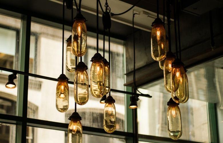 iluminação industrial decoração pendente de ferro