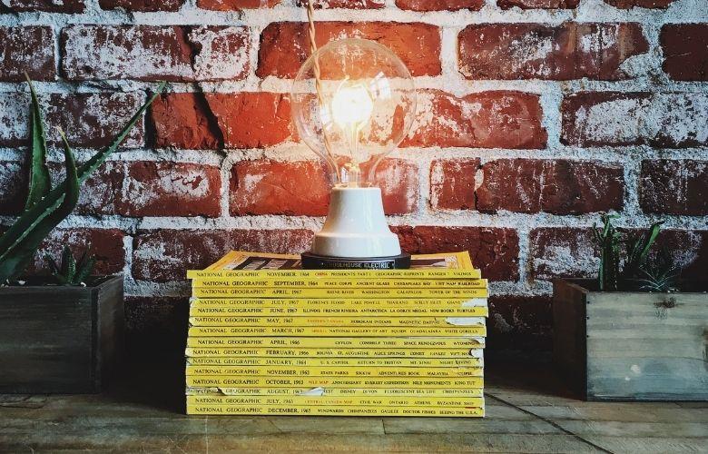 luminária de mesa iluminação industrial decoração