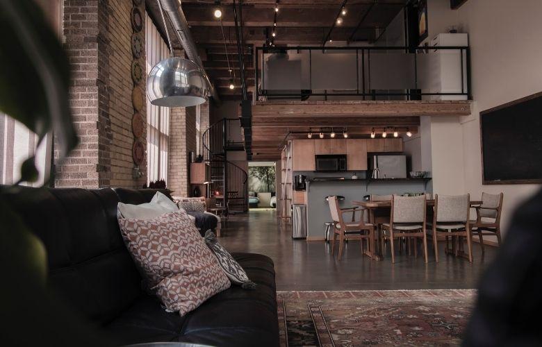 decoração industrial pinterest em ambientes integrados