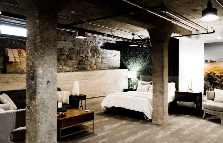decoração industrial apartamento para quarto