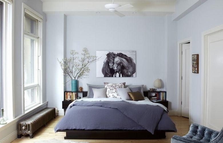 cores para quarto cinza e branco, cama de casal, roupa de cama na cor cinza