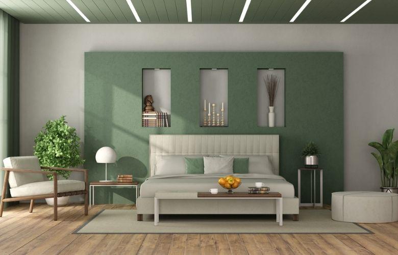 Quarto Verde, nicho de parede, plantas ornamentais