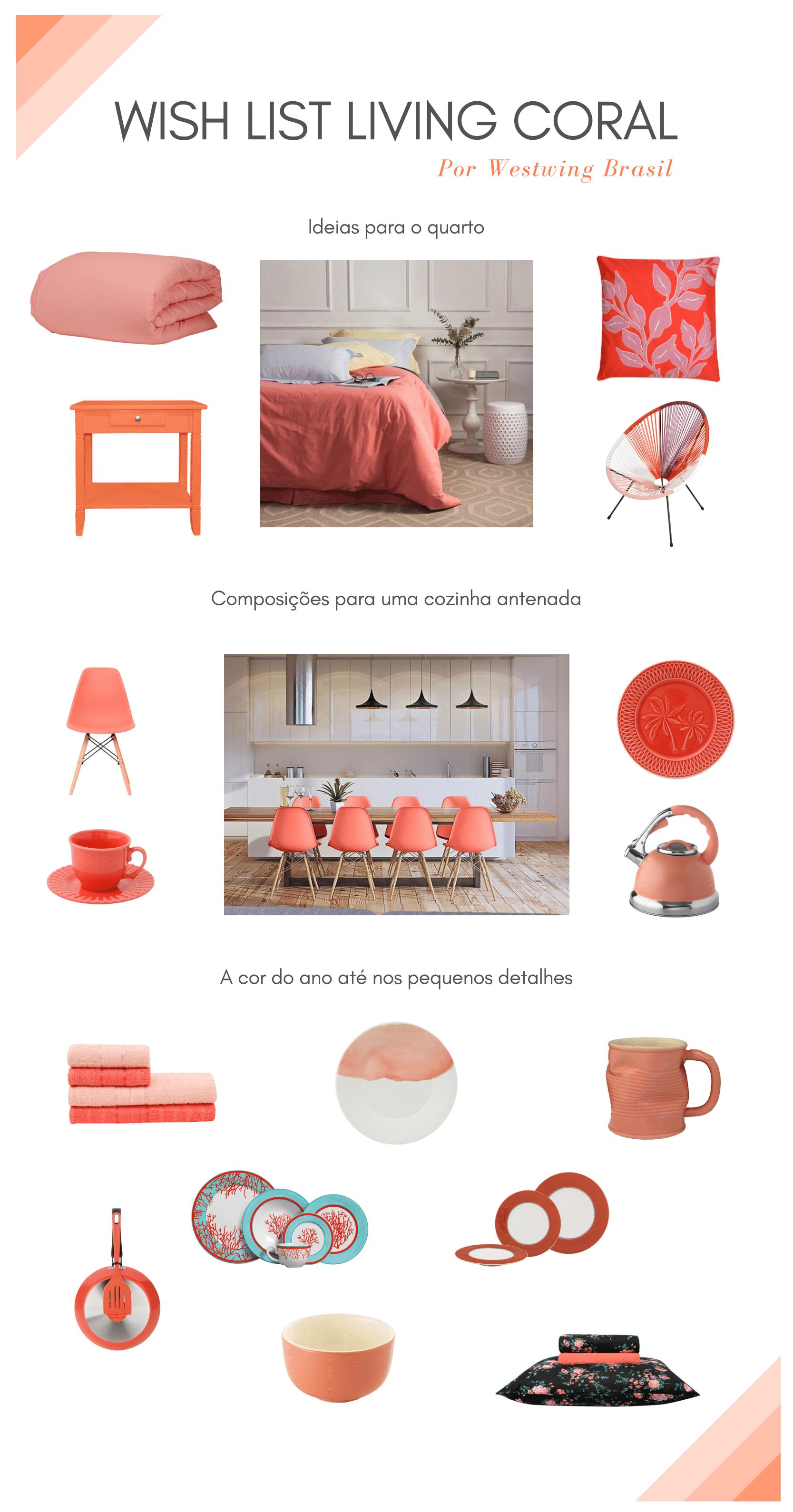 Wish list Living Coral: 16 ideias para usar a cor de 2019 na decoração | westwing.com.br