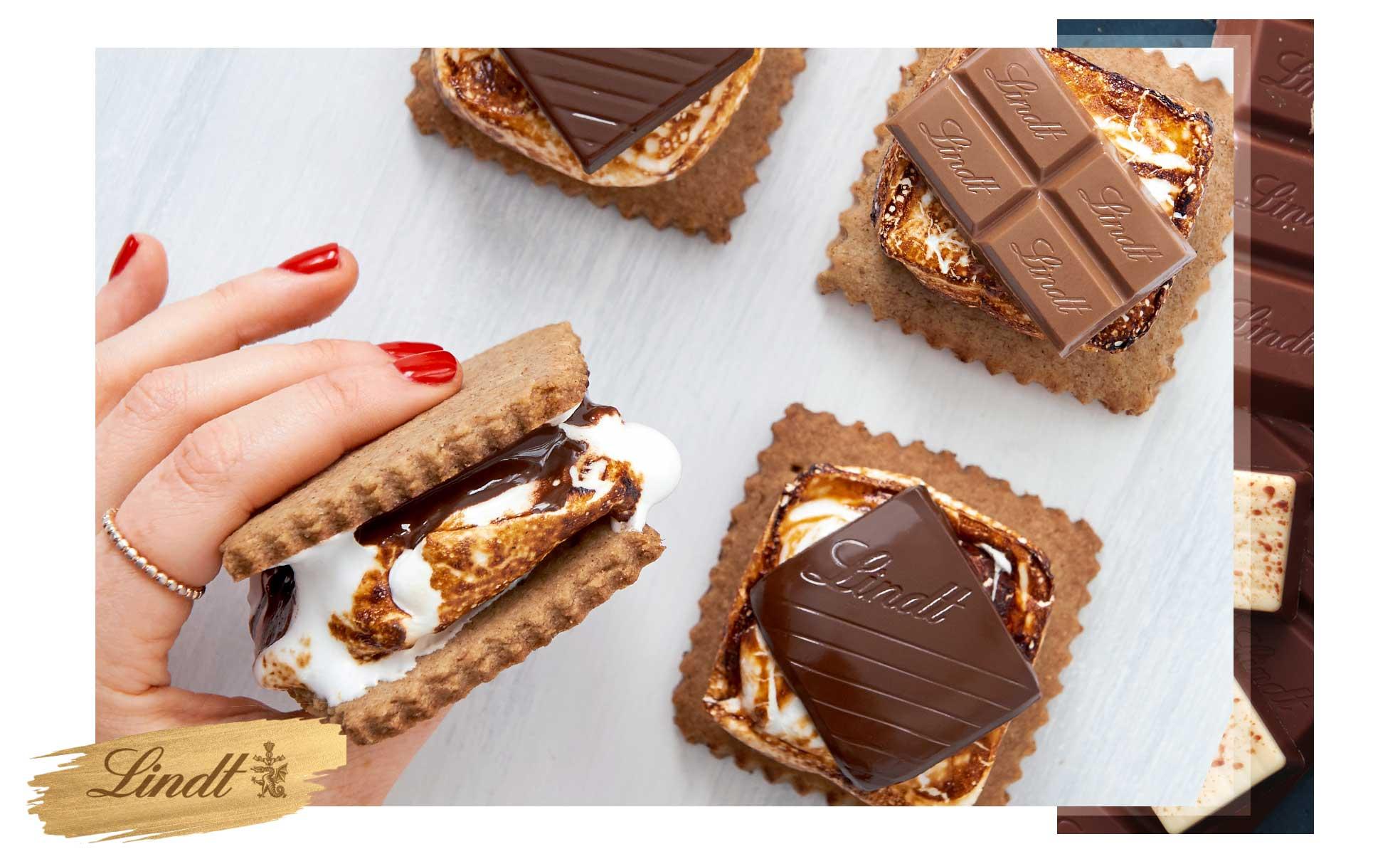 Receita S'mores / chocolate Lindt / westwing.com.br