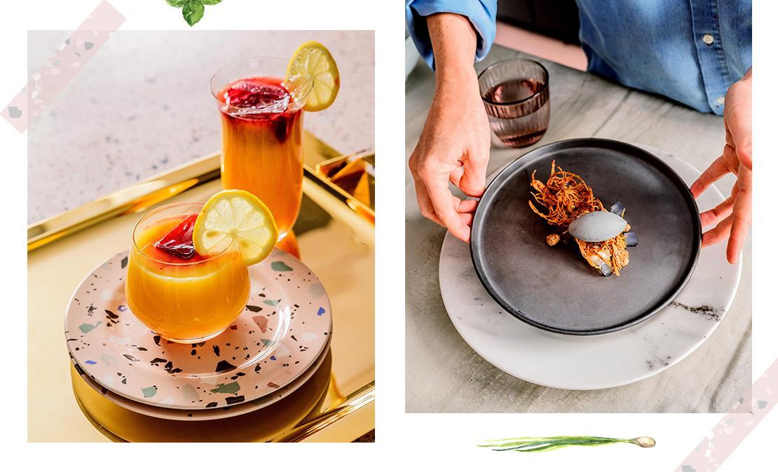 Pratos da chef Helena Rizzo com sobremesa e louças WestwingNow | westwing.com.br